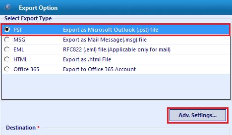 Export type